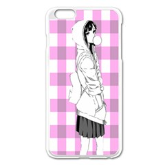Cute Anime Girl  Apple Iphone 6 Plus/6s Plus Enamel White Case by Brittlevirginclothing