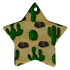 Cactuses Ornament (star)  by Valentinaart