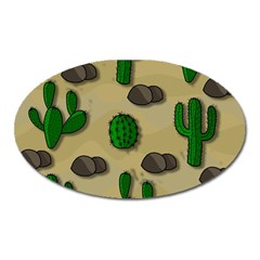 Cactuses Oval Magnet by Valentinaart