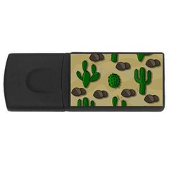 Cactuses Usb Flash Drive Rectangular (4 Gb)  by Valentinaart