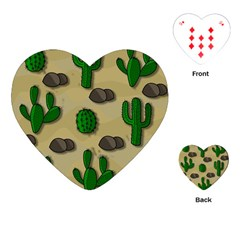 Cactuses Playing Cards (heart)  by Valentinaart