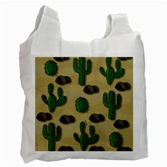 Cactuses Recycle Bag (two Side)  by Valentinaart