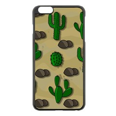 Cactuses Apple Iphone 6 Plus/6s Plus Black Enamel Case by Valentinaart
