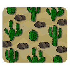 Cactuses Double Sided Flano Blanket (small)  by Valentinaart