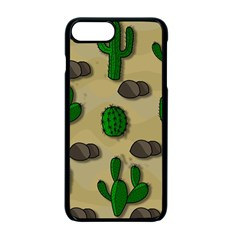 Cactuses Apple Iphone 7 Plus Seamless Case (black) by Valentinaart