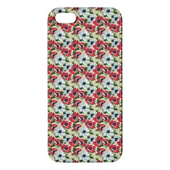 Gorgeous Red Flower Pattern  Apple Iphone 5 Premium Hardshell Case by Brittlevirginclothing