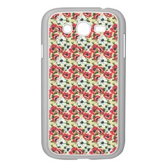 Gorgeous Red Flower Pattern  Samsung Galaxy Grand Duos I9082 Case (white) by Brittlevirginclothing