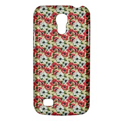 Gorgeous Red Flower Pattern  Galaxy S4 Mini by Brittlevirginclothing