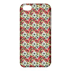 Gorgeous Red Flower Pattern  Apple Iphone 5c Hardshell Case by Brittlevirginclothing