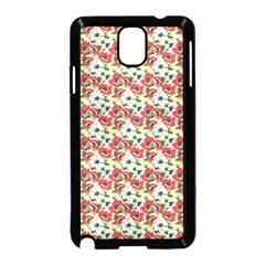 Gorgeous Red Flower Pattern  Samsung Galaxy Note 3 Neo Hardshell Case (black) by Brittlevirginclothing