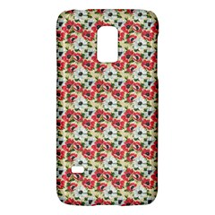 Gorgeous Red Flower Pattern  Galaxy S5 Mini by Brittlevirginclothing