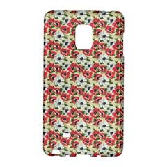 Gorgeous Red Flower Pattern  Galaxy Note Edge by Brittlevirginclothing