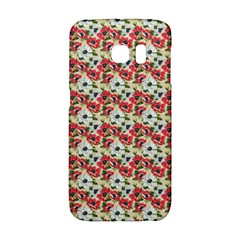 Gorgeous Red Flower Pattern  Galaxy S6 Edge by Brittlevirginclothing