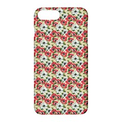 Gorgeous Red Flower Pattern  Apple Iphone 7 Plus Hardshell Case by Brittlevirginclothing
