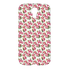 Gorgeous Pink Flower Pattern Samsung Galaxy S4 I9500/i9505 Hardshell Case by Brittlevirginclothing
