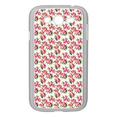 Gorgeous Pink Flower Pattern Samsung Galaxy Grand Duos I9082 Case (white) by Brittlevirginclothing
