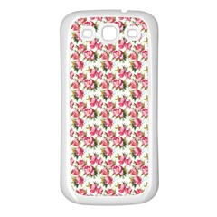 Gorgeous Pink Flower Pattern Samsung Galaxy S3 Back Case (white) by Brittlevirginclothing