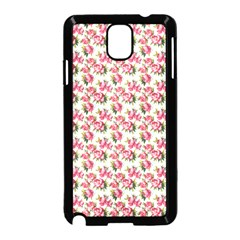 Gorgeous Pink Flower Pattern Samsung Galaxy Note 3 Neo Hardshell Case (black) by Brittlevirginclothing