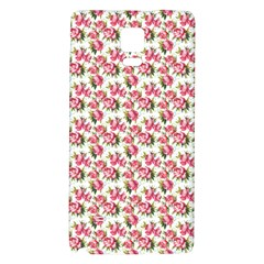 Gorgeous Pink Flower Pattern Galaxy Note 4 Back Case by Brittlevirginclothing