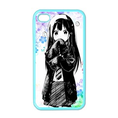 Shy Anime Girl Apple Iphone 4 Case (color) by Brittlevirginclothing