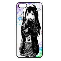 Shy Anime Girl Apple Iphone 5 Seamless Case (black) by Brittlevirginclothing