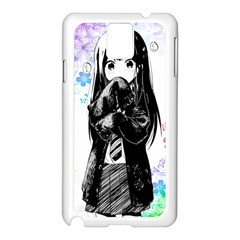 Shy Anime Girl Samsung Galaxy Note 3 N9005 Case (white) by Brittlevirginclothing