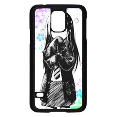 Shy Anime Girl Samsung Galaxy S5 Case (black) by Brittlevirginclothing