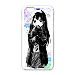 Shy Anime Girl Apple Iphone 6/6s White Enamel Case by Brittlevirginclothing