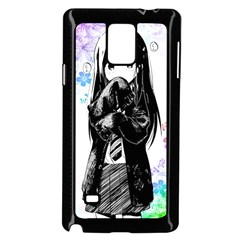 Shy Anime Girl Samsung Galaxy Note 4 Case (black) by Brittlevirginclothing