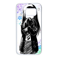 Shy Anime Girl Samsung Galaxy S7 White Seamless Case by Brittlevirginclothing