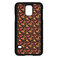 Exotic Colorful Flower Pattern  Samsung Galaxy S5 Case (black) by Brittlevirginclothing