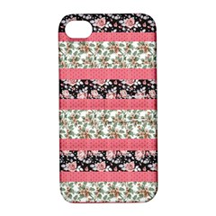 Cute Flower Pattern Apple Iphone 4/4s Hardshell Case With Stand by Brittlevirginclothing