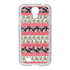 Cute Flower Pattern Samsung Galaxy S4 I9500/ I9505 Case (white) by Brittlevirginclothing