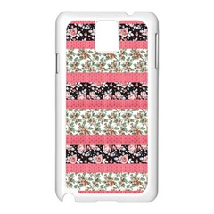 Cute Flower Pattern Samsung Galaxy Note 3 N9005 Case (white) by Brittlevirginclothing
