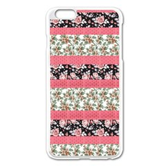 Cute Flower Pattern Apple Iphone 6 Plus/6s Plus Enamel White Case by Brittlevirginclothing