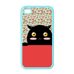 Cute Kitty Hiding Apple Iphone 4 Case (color) by Brittlevirginclothing