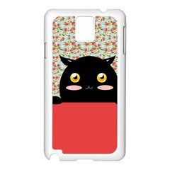 Cute Kitty Hiding Samsung Galaxy Note 3 N9005 Case (white) by Brittlevirginclothing