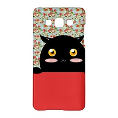 Cute Kitty Hiding Samsung Galaxy A5 Hardshell Case  by Brittlevirginclothing