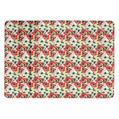 Gorgeous Red Flower Pattern  Samsung Galaxy Tab 10 1  P7500 Flip Case by Brittlevirginclothing