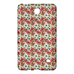 Gorgeous Red Flower Pattern  Samsung Galaxy Tab 4 (7 ) Hardshell Case  by Brittlevirginclothing