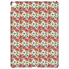 Gorgeous Red Flower Pattern  Apple Ipad Pro 12 9   Hardshell Case by Brittlevirginclothing