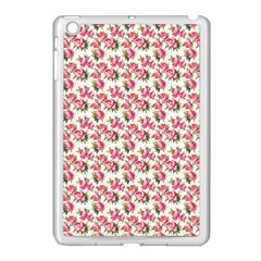 Gorgeous Pink Flower Pattern Apple Ipad Mini Case (white) by Brittlevirginclothing