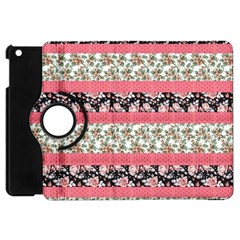 Cute Flower Pattern Apple Ipad Mini Flip 360 Case by Brittlevirginclothing