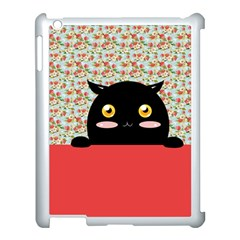 Cute Kitty Hiding Apple Ipad 3/4 Case (white) by Brittlevirginclothing