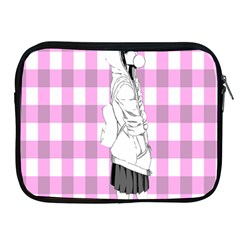 Cute Anime Girl  Apple Ipad 2/3/4 Zipper Cases by Brittlevirginclothing