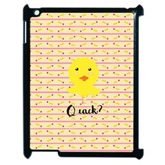 Quack Duck Apple Ipad 2 Case (black) by Brittlevirginclothing