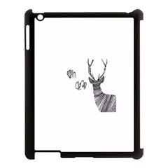 Oh Dear  Apple Ipad 3/4 Case (black) by Brittlevirginclothing