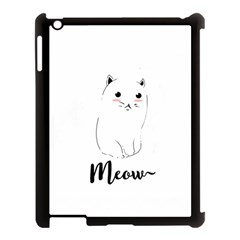 Cute Kitty  Apple Ipad 3/4 Case (black) by Brittlevirginclothing