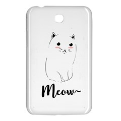 Cute Kitty  Samsung Galaxy Tab 3 (7 ) P3200 Hardshell Case  by Brittlevirginclothing