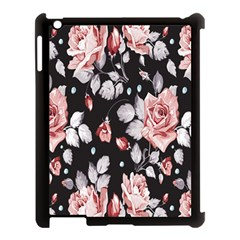 Vintage Flower  Apple Ipad 3/4 Case (black) by Brittlevirginclothing